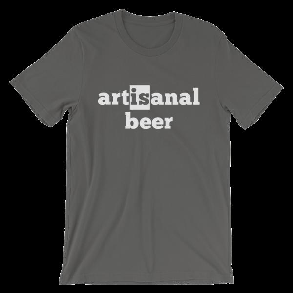 Artisanal Beer Short Sleeve Jersey Asphalt T-Shirt