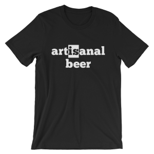 Artisanal Beer Short Sleeve Jersey Black T-Shirt
