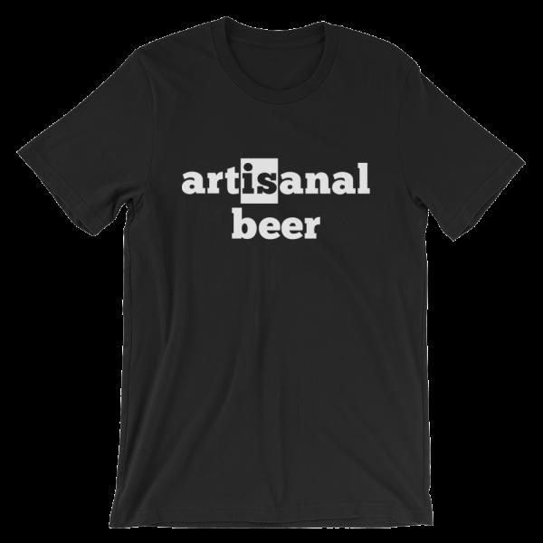 Artisanal Beer Short Sleeve Jersey Black T-Shirt