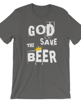 God Save The Beer Short Sleeve Jersey Asphalt T-Shirt