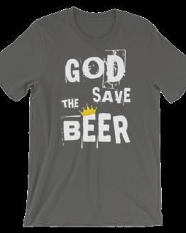 God Save The Beer Short Sleeve Jersey Asphalt T-Shirt