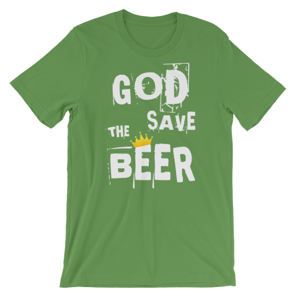 God Save The Beer Short Sleeve Jersey Leaf Green T-Shirt