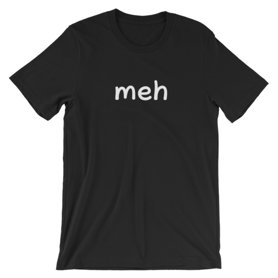 Meh Short Sleeve Jersey Black T-Shirt