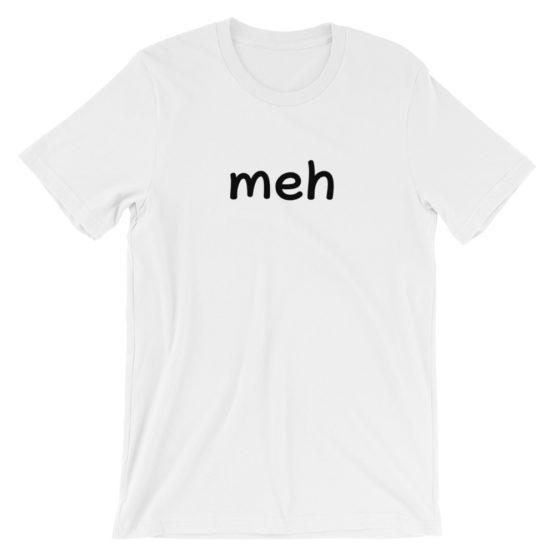 Meh Short Sleeve Jersey White T-Shirt