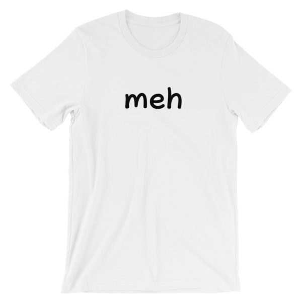 Meh Short Sleeve Jersey White T-Shirt