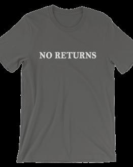 No Returns Short Sleeve Jersey Asphalt T-Shirt