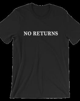 No Returns Short Sleeve Jersey Black T-Shirt