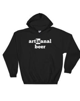 Artisanal Beer Heavy Blend Black Hooded Sweatshirt