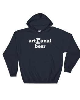 Artisanal Beer Heavy Blend Navy Hooded Sweatshirt