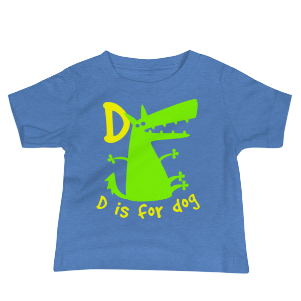 D Is For Dog Baby Jersey Short Sleeve Blue Tee