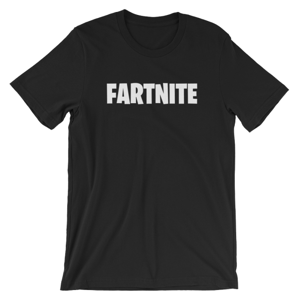Fartnite Short Sleeve Jersey Black T-Shirt