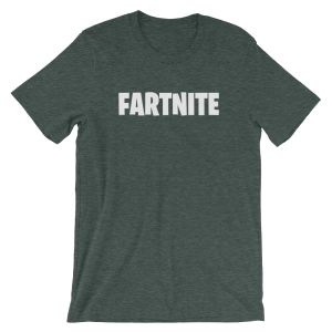Fartnite Short Sleeve Jersey Green T-Shirt