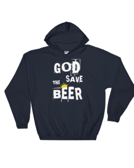 God Save The Beer Heavy Blend Navy Hooded Sweatshirt