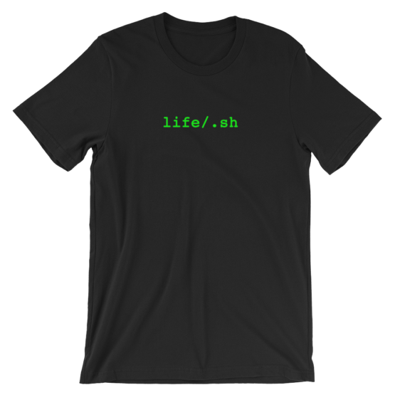 life/.sh Short Sleeve Jersey Black T-Shirt