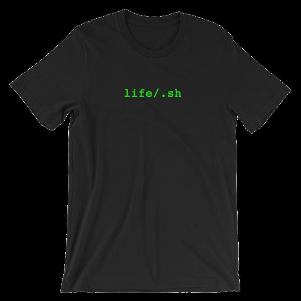 life/.sh Short Sleeve Jersey Black T-Shirt