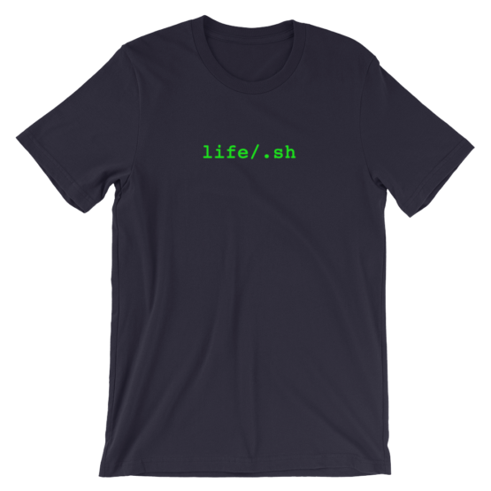 life/.sh Short Sleeve Jersey Navy T-Shirt
