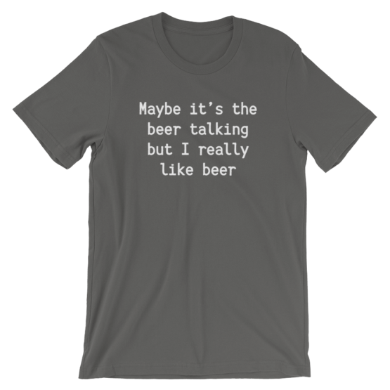 Maybe It's The Beer Talking But I Really Like Beer Short Sleeve Jersey Navy T-Shirt