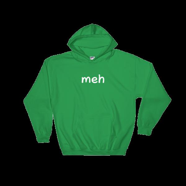 Meh Heavy Blend Green Hooded Sweatshirt