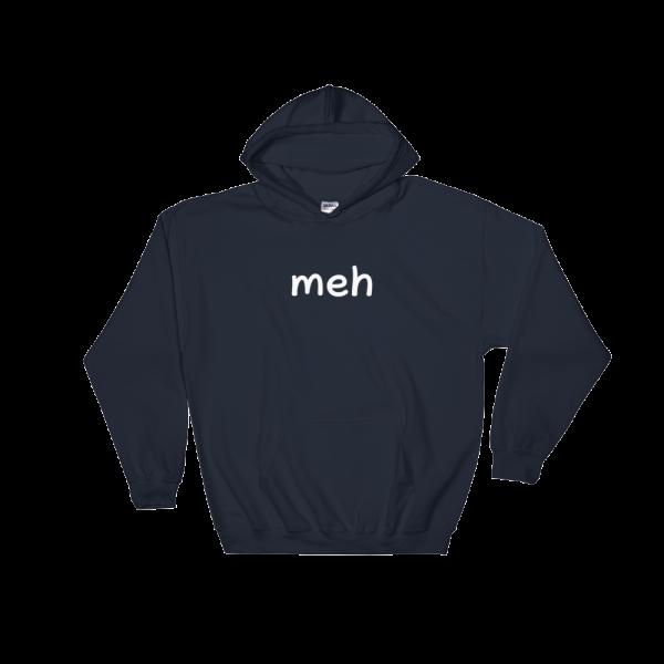 Meh Heavy Blend Navy Hooded Sweatshirt