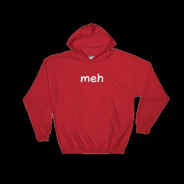 Meh Heavy Blend Red Hooded Sweatshirt