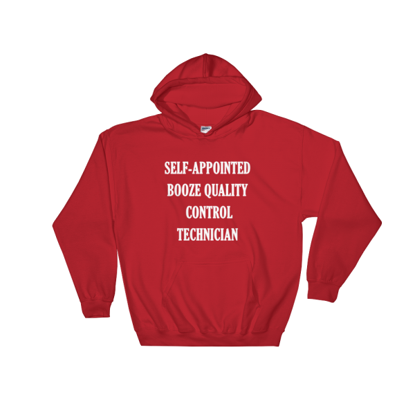Self-appointed Booze Quality Control Technician Red Hoodie
