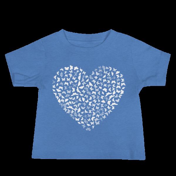 utterfly Heart Baby Jersey Short Sleeve Blue Tee