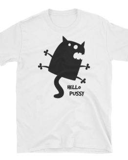 Hello Pussy Unisex Softstyle White T-Shirt