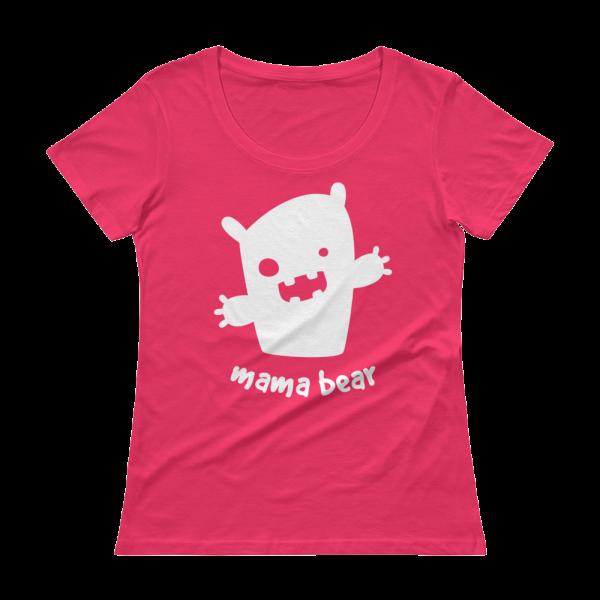 Mama Bear Ladies' Scoopneck Pink T-Shirt