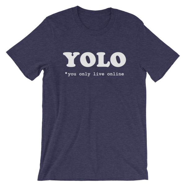 YOLO You Only Live Online Short-Sleeve Navy T-Shirt