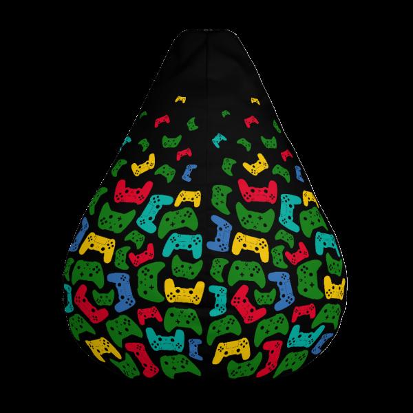 Controller Pattern Gamer Bean Bag Chair w/ filling Front