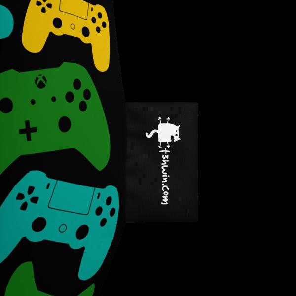 Controller Pattern Gamer Bean Bag Chair w/ filling Logo