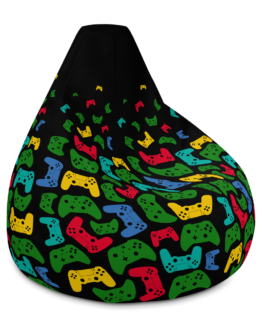 Controller Pattern Gamer Bean Bag Chair w/ filling Right Side