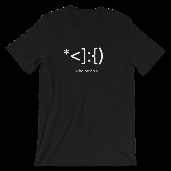 Santa's Ho Ho Ho Short-Sleeve Unisex Black T-Shirt