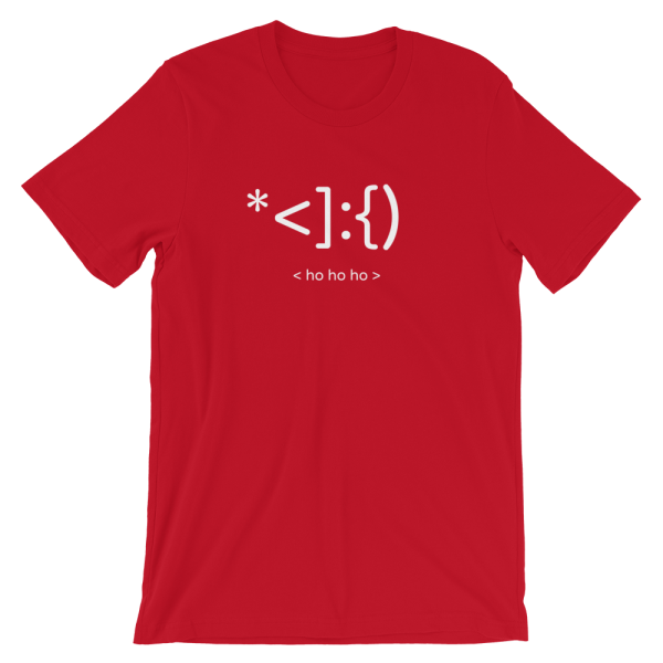 Santa's Ho Ho Ho Short-Sleeve Unisex Red T-Shirt