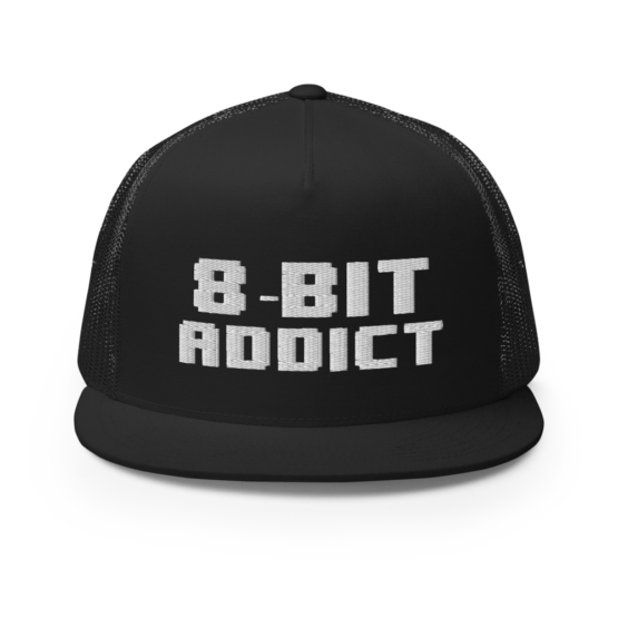 8-Bit Addict Black Snapback Trucker Cap