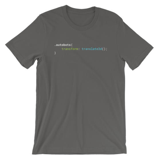 CSS .Autobots Asphalt Short-Sleeve Unisex T-Shirt