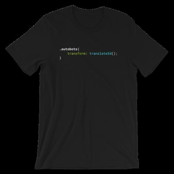 CSS .Autobots Black Short-Sleeve Unisex T-Shirt