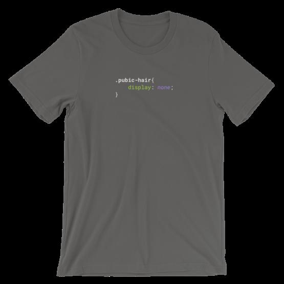 CSS .Pubic-Hair Short-Sleeve Unisex Asphalt T-Shirt