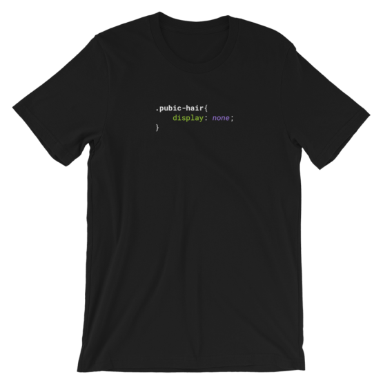 CSS .Pubic-Hair Short-Sleeve Unisex Black T-Shirt