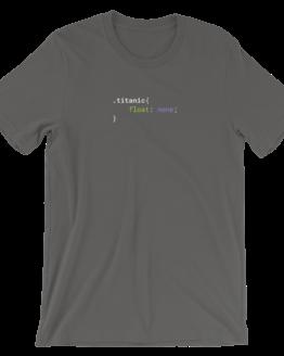 CSS .Titanic Short-Sleeve Unisex Asphalt T-Shirt