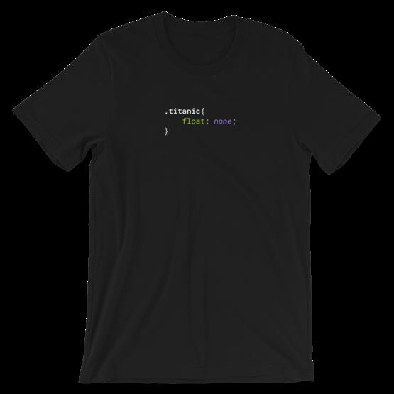 CSS .Titanic Short-Sleeve Unisex Black T-Shirt