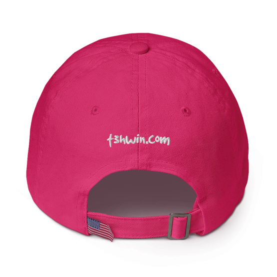 I Hate Everyone Bright Pink Cotton Cap Back