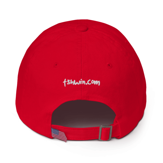 I Hate Everyone Red Cotton Cap Back