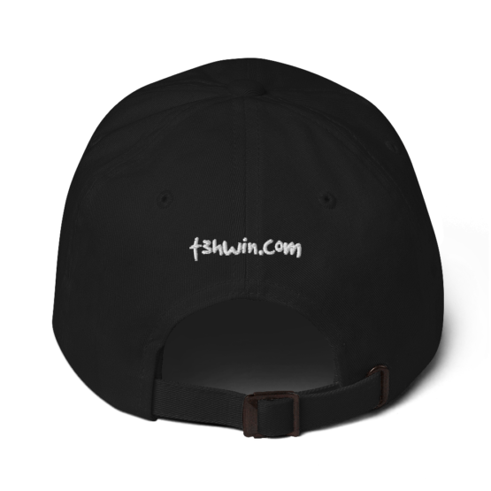 It's OK To Be Awesome Black Dad hat Back