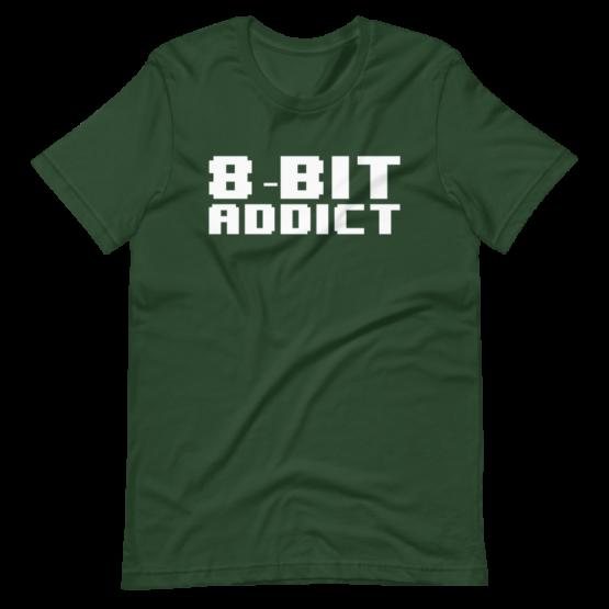 8 Bit Addict Short-Sleeve Unisex T-Shirt Forest