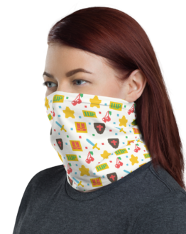 8 Bit Game Neck Gaiter Women Face Shield