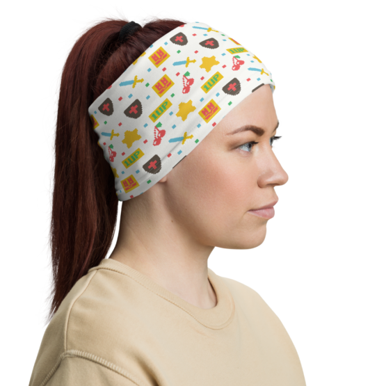 8 Bit Game Retro Neck Gaiter Headband
