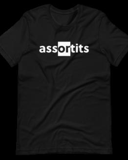 Assortits Short-Sleeve Black Unisex T-Shirt