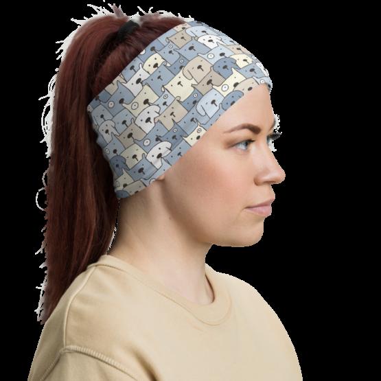 Charming Puppies Neck gaiter women headband
