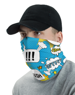 Comic Bubbles Neck Gaiter Men Face Shield